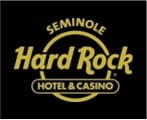 Hard Rock Casino Logo on Black